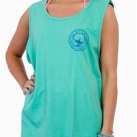Southern Shirt Company Two-Tone Logo Tank Top in Biscay
