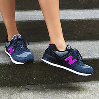 New Balance Womens 574 Sweatshirt Trainer