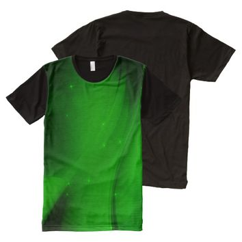 Emerald Wave All-Over Print T-shirt
