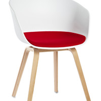 About A Chair AAC 22 with Fixed cushion (Oak Base) by Hay Denmark
