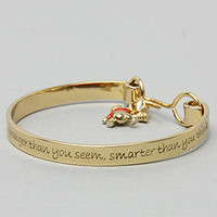 Disney Couture Jewelry The Pooh Collection Bangle Charm Bracelet