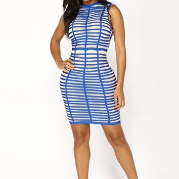 High Ball Midi Dress - Royal