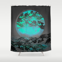 Neither Up Nor Down II Shower Curtain by Soaring Anchor Designs