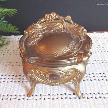 Vintage Art Nouveau Jewelry Casket, Trinket Box, Jewelry Box, Early 1900s Edwardian, Vanity Box