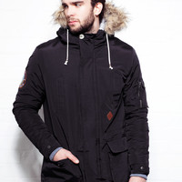 Retro Fishtail Black Parka
