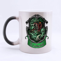 Harry Potter Slytherin Color Change Custom Made Coffee Color Change Mug