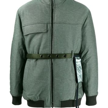 Padded Strap Olive Jacket by Acne Studios