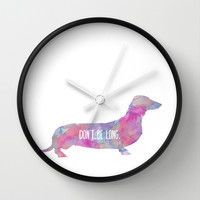 Dachshund Art Wall Clock by 83oranges.com