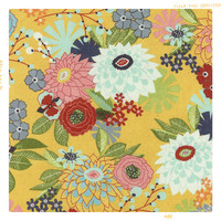 Hello Yellow Floral | Cotton Fabric by the Yard