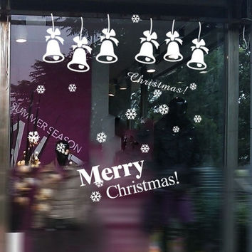 Merry Christmas Decor Xmas Decals Art Vinyl Window Wall Sticker Gift