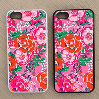 Floral Pattern iPhone Case, iPhone 5 Case, iPhone 4S Case, iPhone 4 Case - SKU: 182