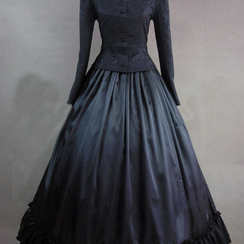 Ladies Victorian Day Costume Gothic Dress Alternative Measures - Brides & Bridesmaids - Wedding, Bridal, Prom, Formal Gown