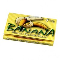 Banana Flavored Regular Size Wide Rolling Papers - Single Pack - Flavored Papers - Rolling Papers & Blunts - Rolling Accessories - Grasscity.com
