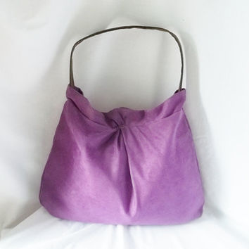 Purple Ultra Suede Hobo handbag  Animal Friendly Suede by ACAmour
