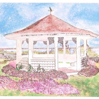 Painted White Gazebo In Chatham, Cape Cod Blank Note Cards Lot of 9