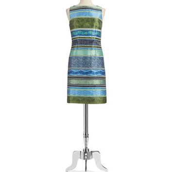 Chetta B Jacquard Shift Dress