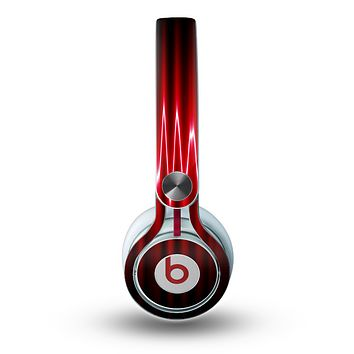 The Glowing Red Wiggly Line Skin for the Beats by Dre Mixr Headphones