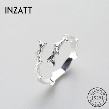 INZATT Punk Style Branch Adjustable Ring Minimal High Quality 925 Sterling Silver For Women Party Fashion jewelry New 2018 Gift