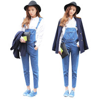 New Womens Casual Washed Jeans Denim Jumpsuit Romper Pencil Pants Overalls