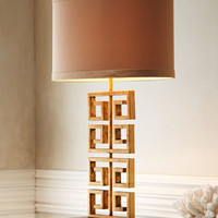 Greek Key Table Lamp - Horchow