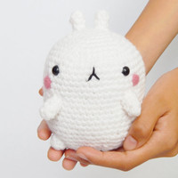 Molang Plush - Amigurumi Molang - Cute Plush - Molang Toy - Stuffed Molang - Bunny Plush - Kawaii Plush - Amigurumi Bunny