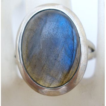 Labradorite Ring Sterling Silver Size 7 by TGGC