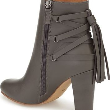 Halogen® 'Sadee' Lace-Up Almond Toe Bootie (Women) | Nordstrom