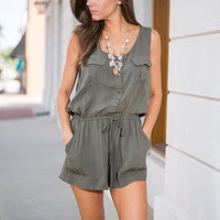 Sassy Safari Romper, Green