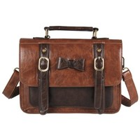 Ecosusi Vintage Leather Messenger Bag Women Crossbody Satchel Bag Briefcase (Coffee):Amazon:Shoes