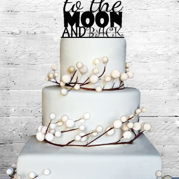 To The Moon and Back Wedding Cake topper