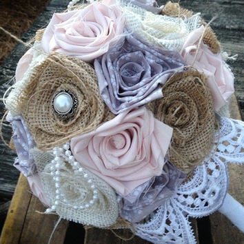 Blush, Grey Burlap Bouquet, Wedding Burlap Bouquet, Burlap Bouquet Wrap, Rustic Burlap Bouquet, Burlap, Wedding, Bride, Favor, Bridesmaid