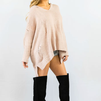Cecico Shredded Blushing Sweater