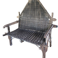 Antique Iron and Wood OXCART Bench Conscious Earthing design Vintage Unique Design hOTEL Benches RUSTIC Interior Styling