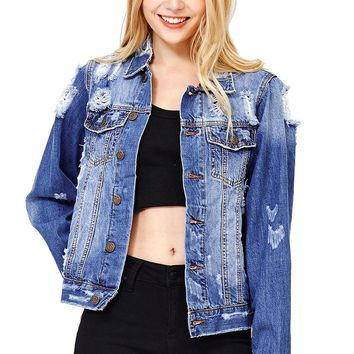 Destructed Boyfriend Jacket