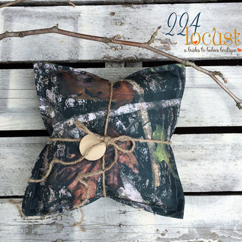 Camo Wedding Pillow, Camo Wedding, Camo Wedding Ring Pillow, Ringbearer Pillow, Ringbearer, Rustic, Country, Wedding Rings, Ring Pillow