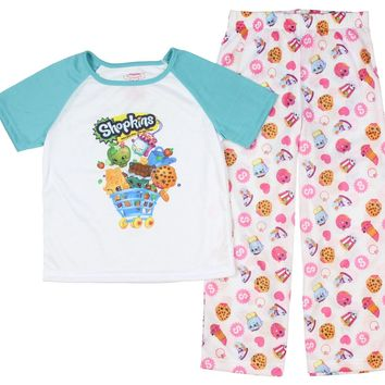 Shopkins Girls Long Sleeve Pajamas 4-16
