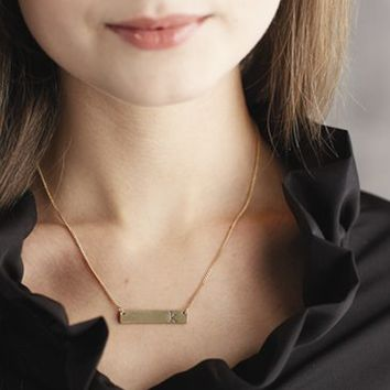 Chelsea Initial Bar Necklace Gift