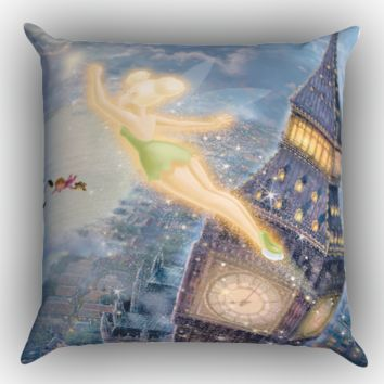 peter pan tinker bell X0311 Zippered Pillows  Covers 16x16, 18x18, 20x20 Inches