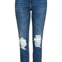 MOTO Blue Ripped Lucas Jeans | Topshop