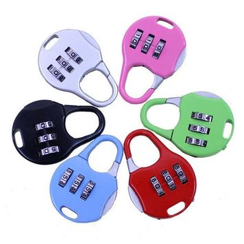 DCCKL72 One Piece Travel Accessories Mini Luggage Locks 3 Digit Dial Combination Code Number Luggage Lock Padlock HTA12