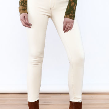 Roll Up Skinny Jean - Off White