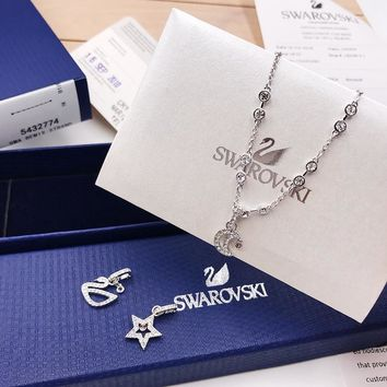 HCXX 131 Swarovski SWA REMIX COLLECTION Invisible Magnetic Button Woman Bracelet Hundred Variable Combination Pendant