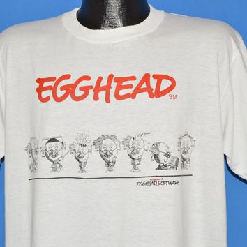 80s Egghead Discount Software Egg People t-shirt Extra Large