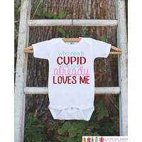 Girls Valentines Day Outfit - Who Needs Cupid Valentines Onepiece - Novelty Valentine Shirt for Baby Girl - Kids Valentines Day Outfit