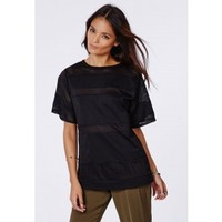 Missguided - Anya Contrast Perforated Sweatshirt
