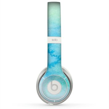 The Subtle Green & Blue Watercolor Skin for the Beats by Dre Solo 2 Headphones