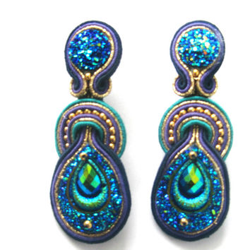 "Soutache earrings ""Space"""