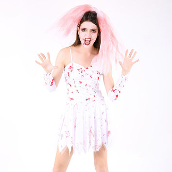 Halloween Costume Zombie Princess Dress [9208477508]
