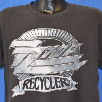 90s ZZ Top Recycler World Tour Distressed t-shirt Extra Large