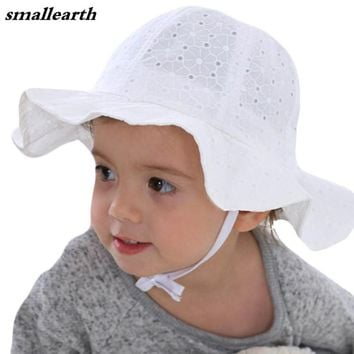 Kids Girls Sun Hat Spring Summer Baby Princess Visor Cotton Hats 5a2f538aaa21